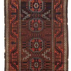 "Antique Belouchi Area Rug 3'2""×6'0"""