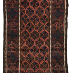 "Antique Central Asia Tribal Belouchi Rug 3'1""×5'0"""
