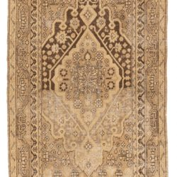 "Antique Hand-Knotted Muted Wool Khotan Rug 4'6""×8'3"""