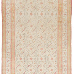 """Antique Indian Agra Transitional Wool Rug 7'7""""×12'0"""""""