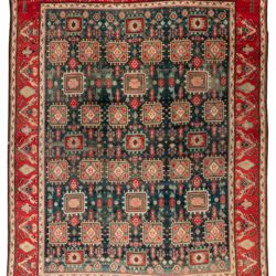 "Antique Indo Agra Rug 11'8""×15'3"""