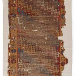"Antique Konya Rug Preserved on Canvas 4'1""×7'10"""