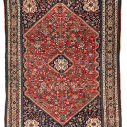 """Antique Persian Abadeh Rug 4'6""""×6'7"""""""