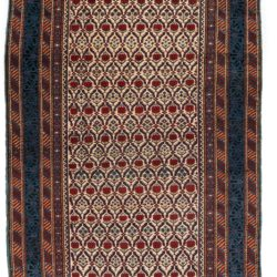 "Antique Persian Dagestan Rug 4'2""×6'7"""