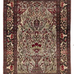 "Antique Persian Lavar Kerman Rug 4'5""×6'8"""
