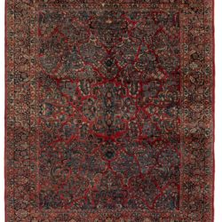 """Antique Persian Sarouk Hand-Knotted Wool Rug 8'0""""×10'2"""""""