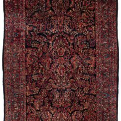 "Antique Persian Sarouk Rug 6'2""×9'3"""