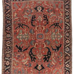 "Antique Persian Serapi 11'6""×14'8"""