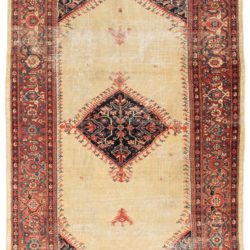 """Antique Persian Sultanabad Rug 5'4""""×8'2"""""""
