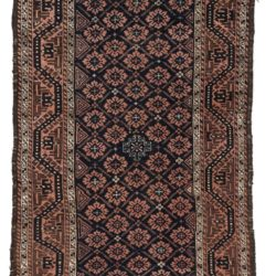 "Antique Tribal Belouchi Rug 3'5""×6'8"""