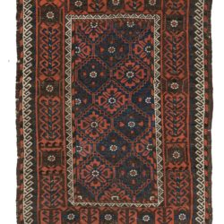 "Antique Tribal Belouchi Rug  3'6""×5'6"""