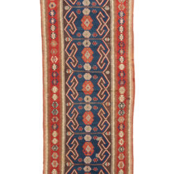 "Antique Turkish Kilim 4'4""×13'10"""