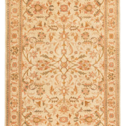 """New Afghan Rug with a Floral Design 3'11""""×5'9"""""""