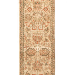 "New Afghani Transitional Floral Field Runner 2'8""×11'10"""