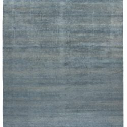 """New Blue and Beige Hand-Knotted Wool Rug 13'10""""×19'6"""""""