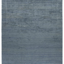 """New Blue and Gray Hand-Knotted Wool Rug 12'10""""×20'3"""""""