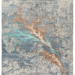"""New Indo Ikat Abstract Field Rug 9'1""""×12'4"""""""