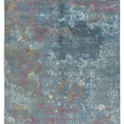 """New Indo Ikat Contemporary Floral Field Rug 9'2""""×12'3"""""""