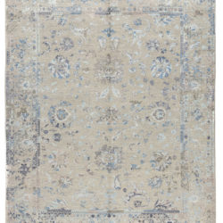 """New Indo Ikat Contemporary Floral Field Rug 8'0""""×10'1"""""""