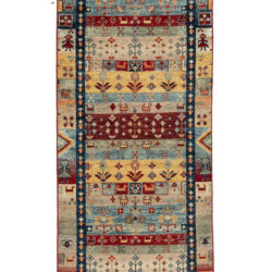 """New Pakistani Transitional Hand-Knotted Tribal Wool Runner 2'7""""×9'10"""""""