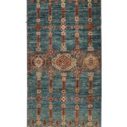 """New Pakistani Transitional Hand-Knotted Tribal Wool Runner 2'8""""×10'0"""""""