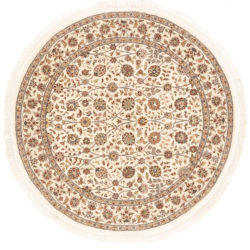 "New Persian Round Floral Field Rug  5'0""×5'0"""