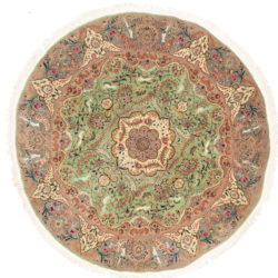 "New Sino-Persian Round Floral Central Medallion Rug 8'1""×8'0"""