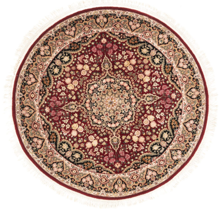 """New Sino-Persian Round Floral Central Medallion Rug 5'1""""×5'1"""""""