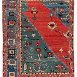 "New Turkish Azeri Rug 5'11""×8'11"""