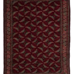 "New Yomud Turkman Rug 5'4""×8'2"""