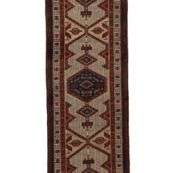"Semi-Antique Camel Hair Serab Rug 3'2""×14'10"""
