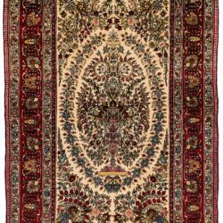 "Semi-Antique Persian Teheran 4'6""×6'11"""