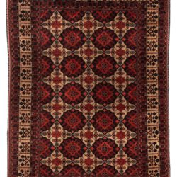"Semi-Antique Turkmenistan Turkman Rug 4'10""×6'8"""