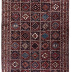"Semi-Antique Yalameh Rug 12'0""×18'1"""